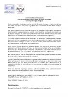 20181110_CP Conjoint députés LREM 38_Unité nationale pour le centenaire de l'armistice