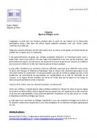 20181206_CP Chalas_annulation réunion publique