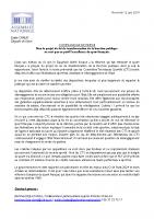 20190611_CP Emilie Chalas_Reforme de la fonction publique et CTS
