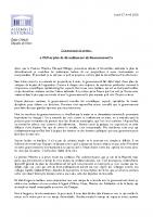 20200427_CP_Madame_Emilie_CHALAS_Oui_au_plan_de_déconfinement_du_Gouvernement