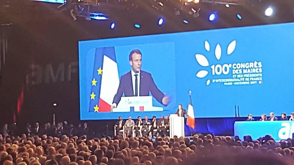 Pacte de responsabilité d'Emmanuel Macron aux Maires